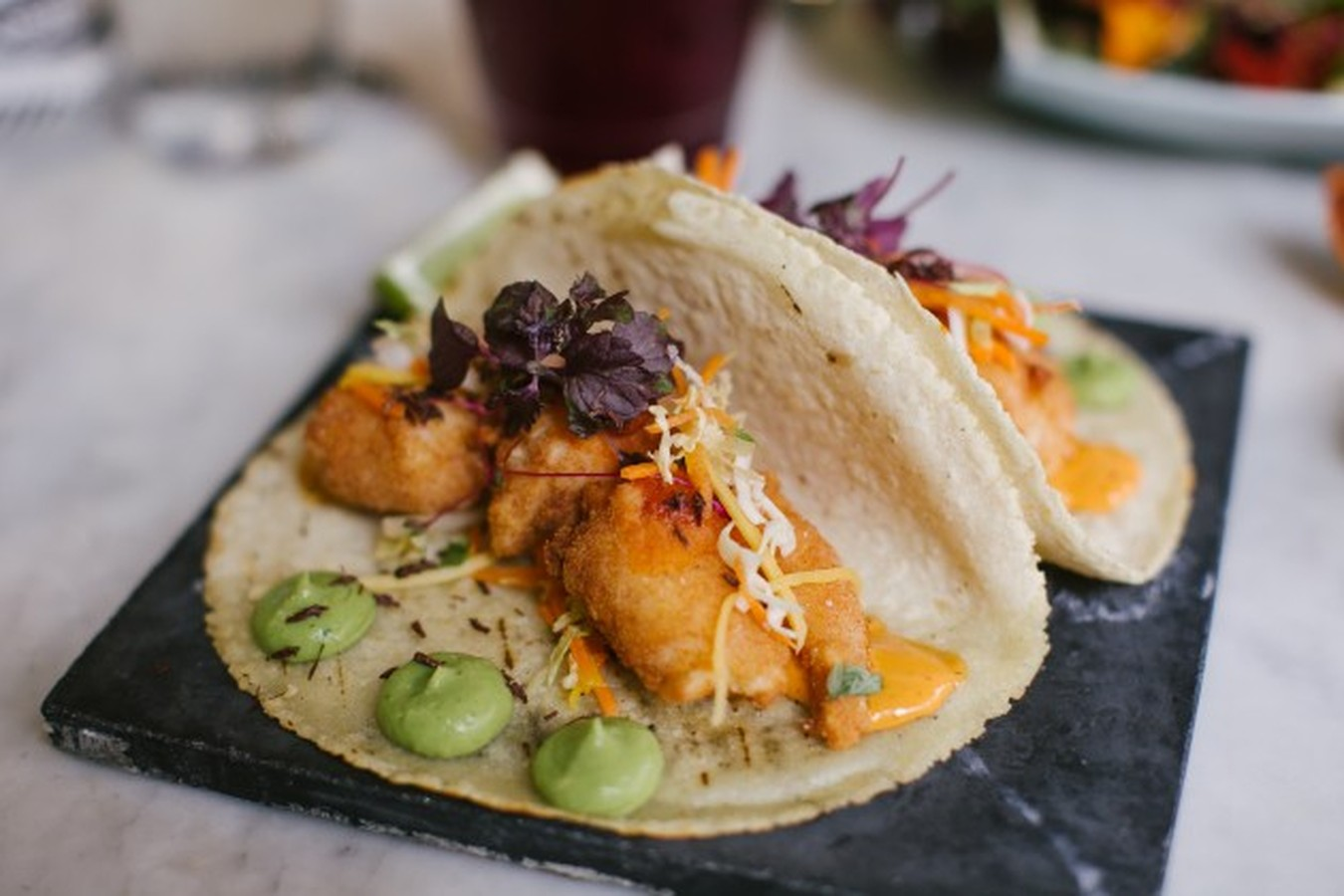 The black ant east village new york the infatuation for Best fish tacos nyc