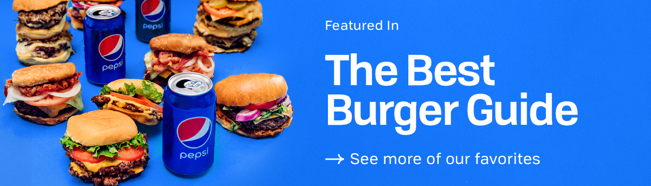 Featured in The Best Burger Guide.