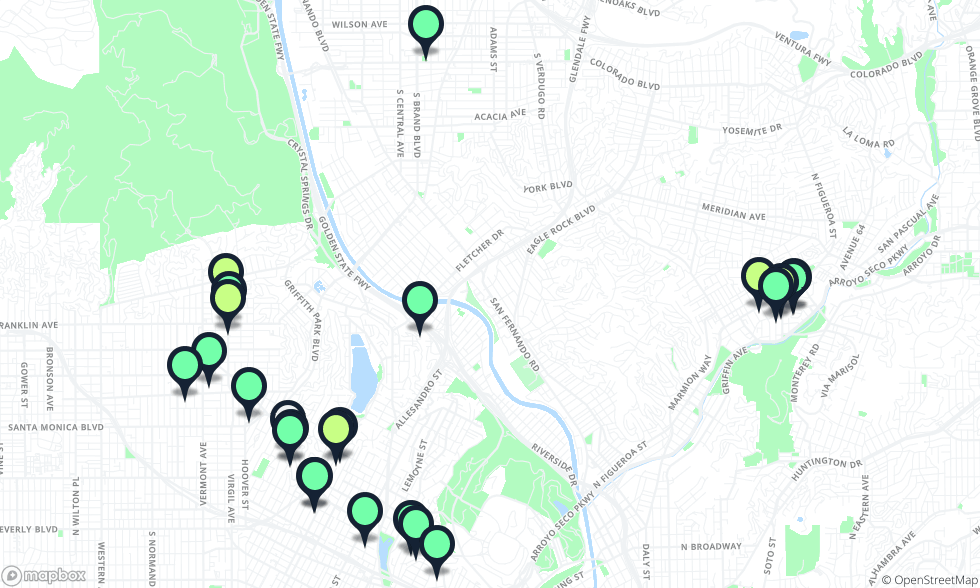 Silverlake Los Angeles Map.The Eastside Dinner Guide Los Angeles The Infatuation