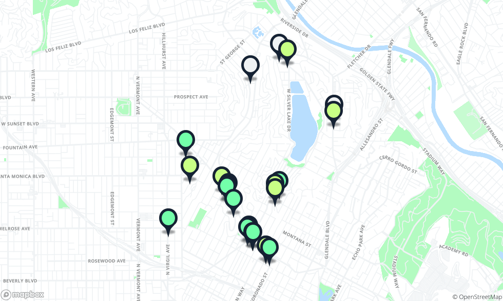 Silverlake Los Angeles Map.The Best Restaurants In Silver Lake Silver Lake Los Angeles